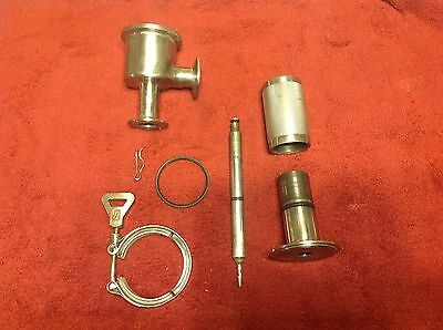 """Used Superior Steel 1"""" SS Metering Valve with 1 1/2"""" Tri Clamp Ferrules"""