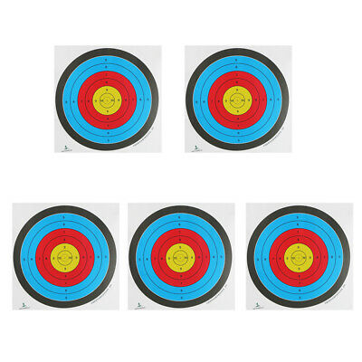 5x 40/60cm Archery Targets Faces Paper Hunting Shooting Target 10 Ring