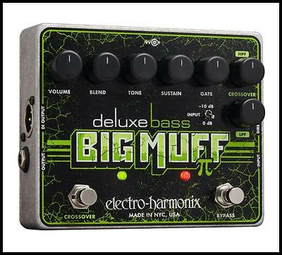 Electro-Harmonix Deluxe Bass Big Muff Pi Distortion  Bass Guitar Effects Pedal