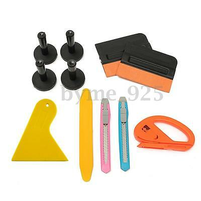 11pcs Car Film Wrap Vinyl Tint Installation Tools Kit Squeegee Cutter Magnets