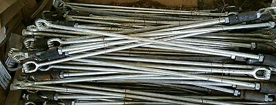 """Quantity 4 ) Allied Bolt 53"""" Long Expanding Rock Earth Anchor Pole Line Hardware"""