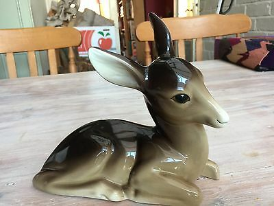Large Vintage Deer Fawn Bambi Figurine By W.R Midwinter Ltd Of England Ornament