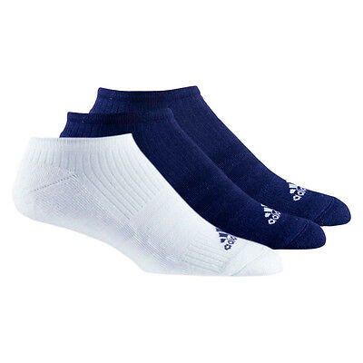 Adidas 3 Stripes Performance No Show Half Cushioned 3 Pairs Calcetines