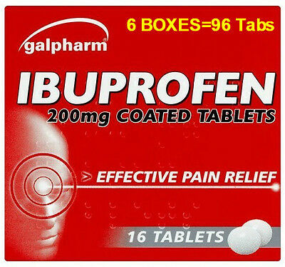 96 Ibuprofen 200Mg Tablets - Pain Relief - Migraine - Rheumatic & Muscular Pain