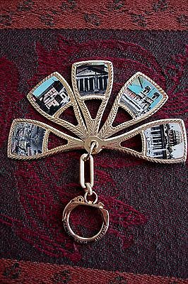 NEW! Made In ITALY!  Key Chain Fob w/Italian Roma 5 Pictures Points of Interest