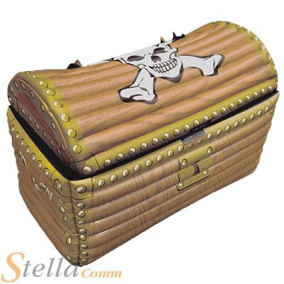 Inflatable Pirate Treasure Chest Drinks Beer Cooler Pirate Fancy Dress Party Box