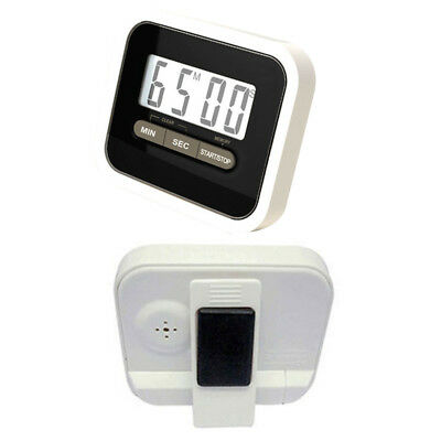 Magnetic Digital Lcd Kitchen Timer Egg Cooking Chef Fridge Count Up Down Black