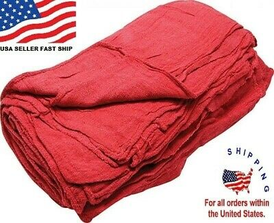 1000 New Great American Textile Mechanics Shop Rags Towels Red Large Jumbo 13X14