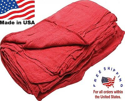 2000 New Great American Textile Mechanics Shop Rags Towels Red Large Jumbo 13X14
