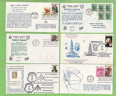 Collection of eight Masonic Thematic Covers