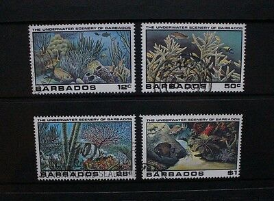 BARBADOS 1980 Underwater Scenery Fish. Set of 4. Fine USED. SG660/663.