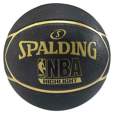 Spalding Nba Highlight 7 Black / Gold Baloncesto