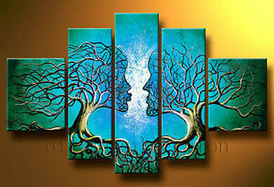 MODERN ABSTRACT HUGE CANVAS ART OIL PAINTING not framed