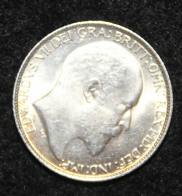 King Edward VII 1902 Silver 6d Sixpence UNC