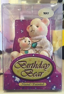 Birthday Bear - May Emerald Stone