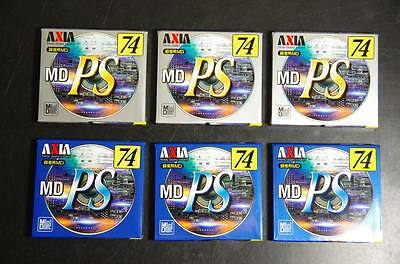 6-pack. 74 mins.  Axia new minidiscs MD. Never Used.