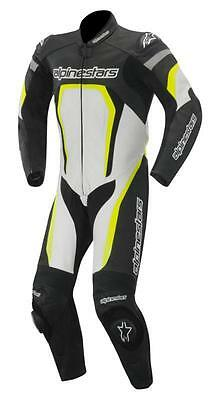 Alpinestar Alpinestars Motegi Leather 1 One Piece Suit White Black Yellow