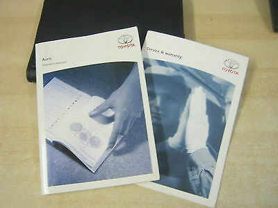 Toyota Auris  Owners Manual Handbook 2005-2010 And Service Book