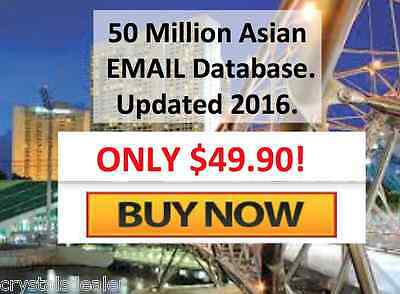 50 Million Asian Business and Consumer Email Databas