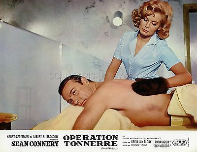 James Bond 007 Sean Connery Thunderball 1965 Vintage Lobby Card #12