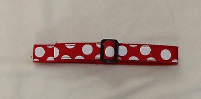 Red & White Christmas Holiday Adjustable Stay Put Belt 12 Months