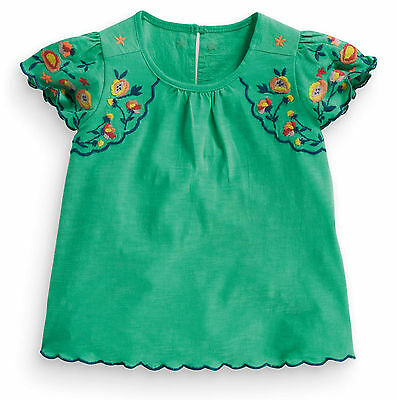 ВNWT NEXT Girls Tunic Top • Green Embroidered Folk Blouse • 100% Cotton • 6-9m
