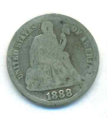 1888-S Seated Liberty Dime