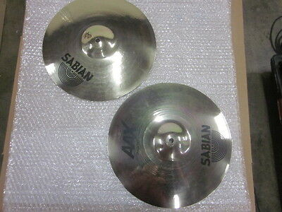 "Pair Sabian 13"" AAX Stage hi-hats hihat. 21302XB new condition never played"