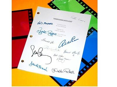 From Russia With Love James Bond 007 Signed Script Sean Connery, Robert Shaw