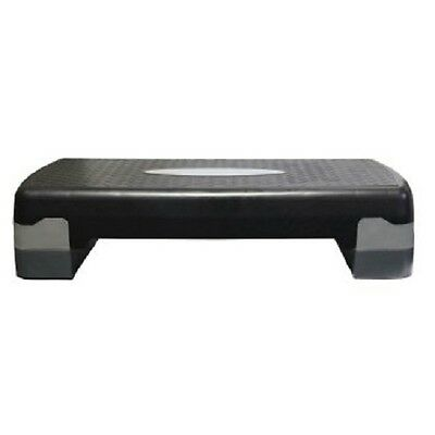 Aerobic Exercise Workout Gym Cardio Fitness Bench Step Level Black