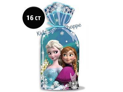 16 ct Disney FROZEN Cellophane Treat Loot BAGS Birthday Party Favors Supplies