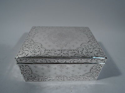 Woods & Chatellier Jewelry Box - 231 - Antique - American Sterling Silver