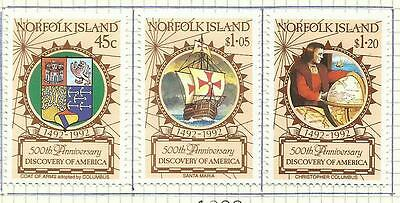 Norfolk 1992 - 500 Years America Discovery set MH