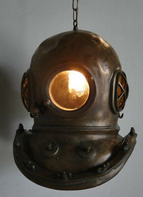 Steampunk Bioshock Infinite Bronze MARK V DIVERS HELMET CHANDELIER old