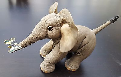 Tuskers -  Henry Elephant Flutter By - gorgeous elephant with butterfly