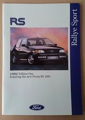 Ford RS Range UK Sales Brochure Edition One 1992