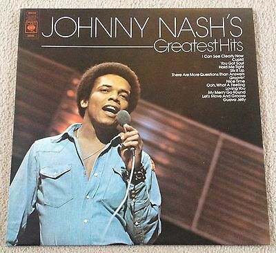 JOHNNY NASH'S Greatest Hits 1974 CBS RECORDS Vinyl LP EX