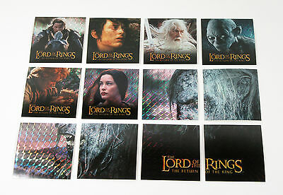 2003 Artbox The Lord of the Rings Return of the King Action Flipz Prism Set (12)