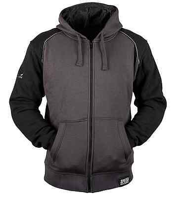 Speed And Strength Mens Black Charcoal Cruise Missile Armored Hoody Ce Size M 2X