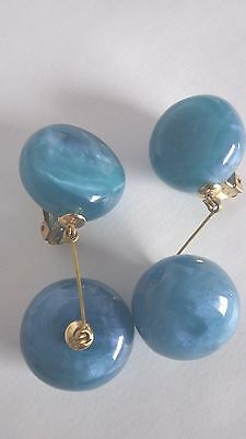 #2 Outrageous Runway Huge Chunky Lucite Designer Clip On Drop Dangle Earrings