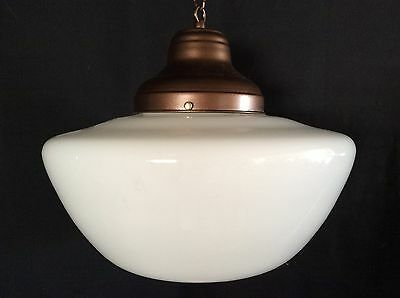 Antique Hanging Church Industrial School House Pendant Light Fixture 1920s Large