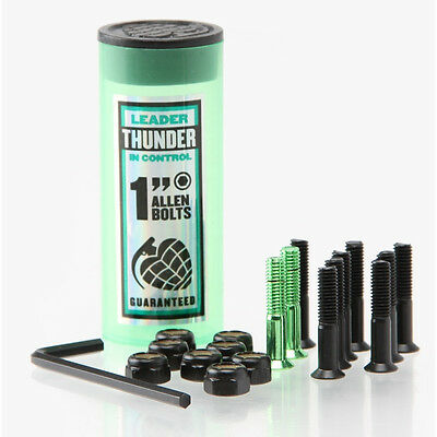 New THUNDER Allen Skateboard Truck Mount Hardware (Black / Metallic Green): 1""