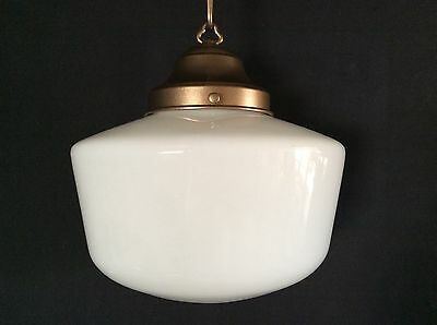 1920s Vintage Hanging Church Industrial School House Pendant Light (1 of 2)