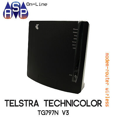 BRAND NEW TELSTRA T-GATEWAY ADSL MODEM ROUTER WI-FI TECHNICOLOR TG797nV3