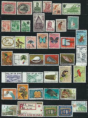 Papua New Guinea - 65 mixed stamps - Years 1916 to 1990