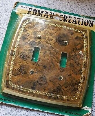 New Vintage Edmar Creation Mid-Century lightswitch Double Switch Plate
