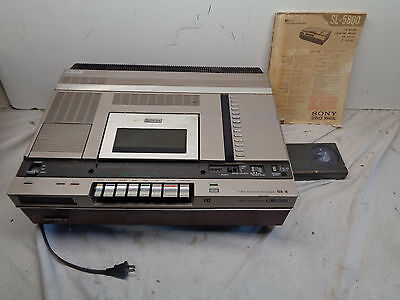 Sony BETAMAX RECORDER PLAYER SL-5800 With Service Manual! For Parts or Repair