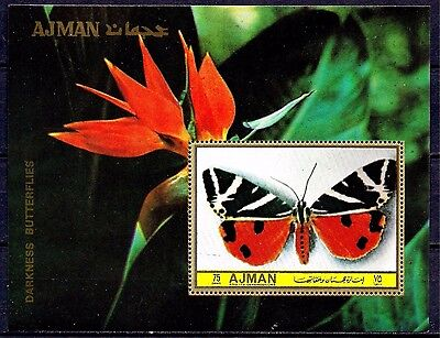 Ajman Butterfly Insects Bird-of-paradise Flower Nature m/s MNH