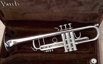 1985 LOW Hours Bach Stradivarius Model 37 Silver Bb Trumpet WOW!