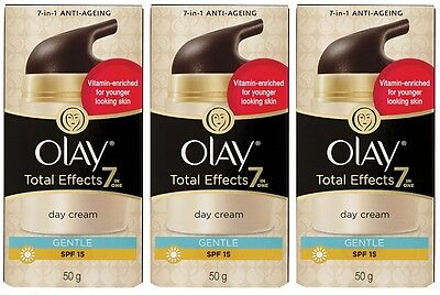 3x *50g* Olay Total Effects 7-In-One Day Creme - Gentle SPF15